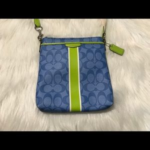 COACH Blue and Green Satchel Bag 💙💚